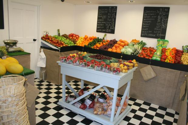 Fresh fruit and veg on sale at Writtle Road Nursery