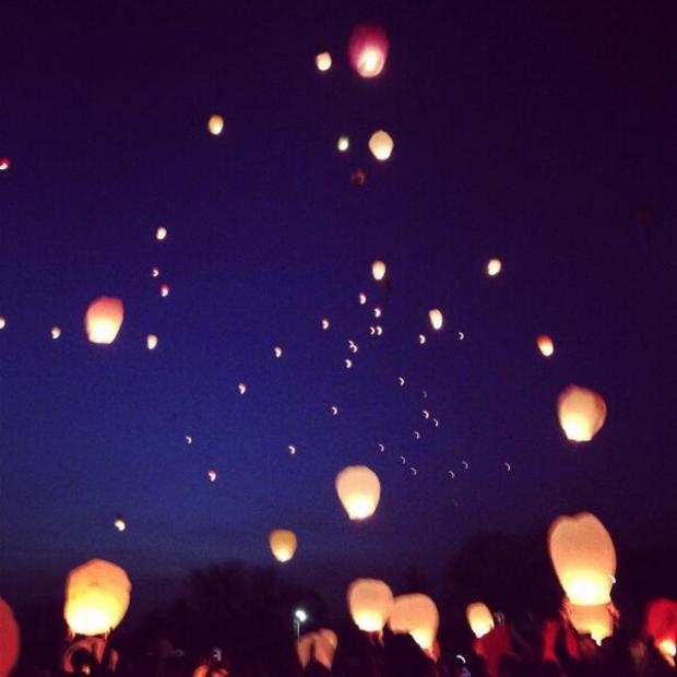 Chelmsford Weekly News: The Chinese lanterns being let off into the sky