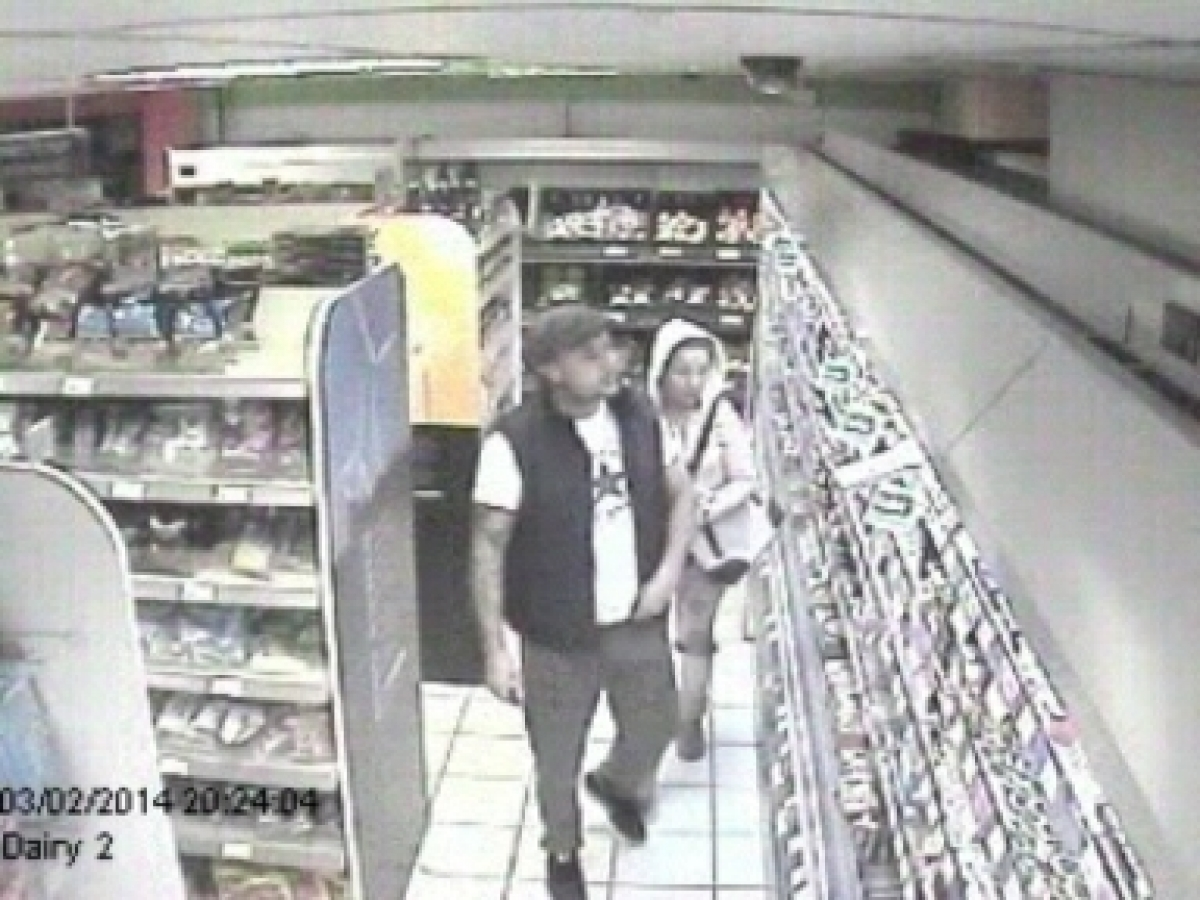 CCTV image of suspected wanted by police in connection with shoplifting