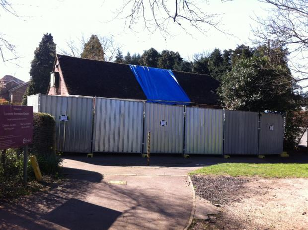 Lionmede Bowls Club's clubhouse boarded up after the blaze