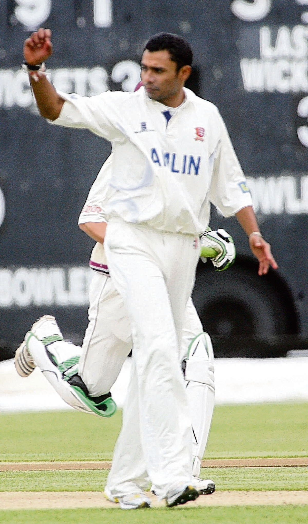 Danish Kaneria playing for Essex
