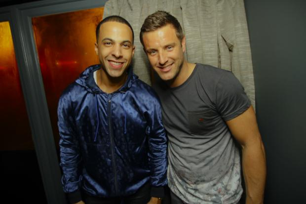 Ex-JLS member Marvin Humes with TOWIE's Elliott Wright in Ctzn