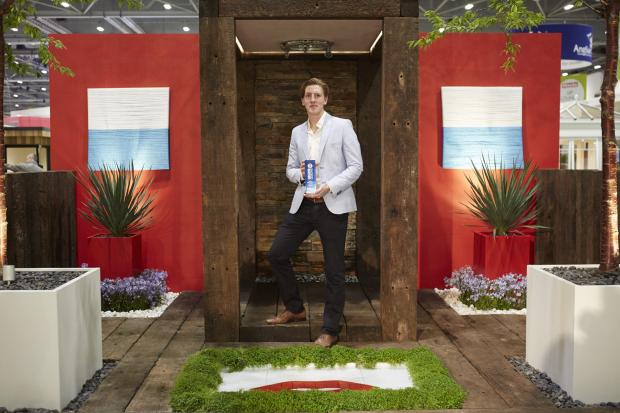 Turf at the top: Liam Sapsford and his winning garden design