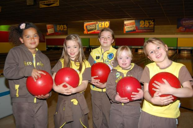 Chelmsford Weekly News: Bowling bash: Members of the Moulsham District Brownies