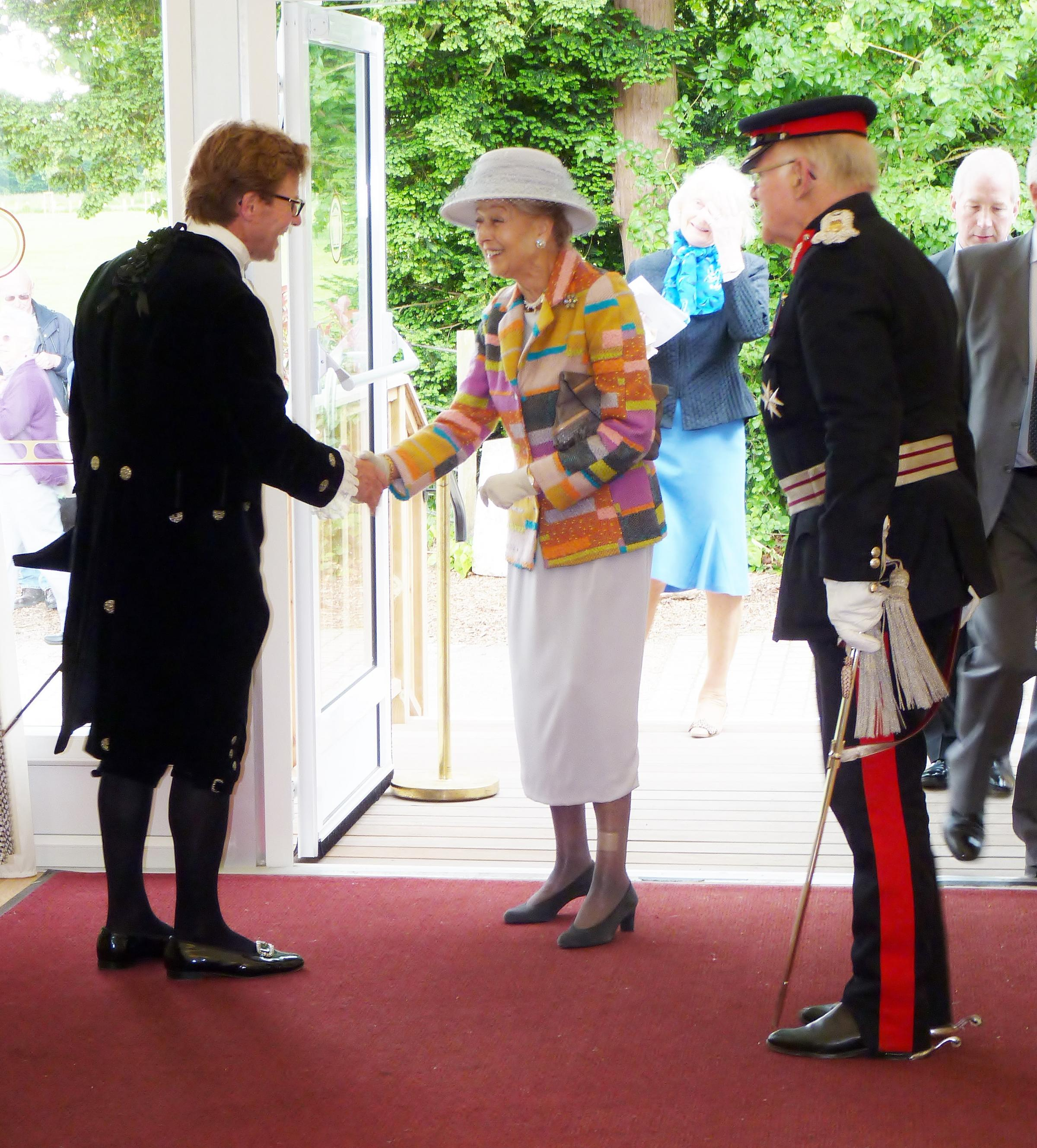 Special guest: Princess Alexandra with the High Sheriff and Lord Lieutenant of Essex at Hylands House