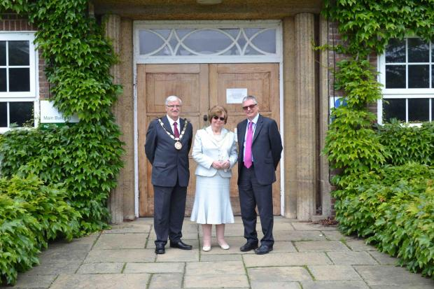 Left to right: the Mayor of Chelmsford Councillor Bob Villa, Mayoress Valerie Villa and Writtle College Principal Dr Stephen Waite.