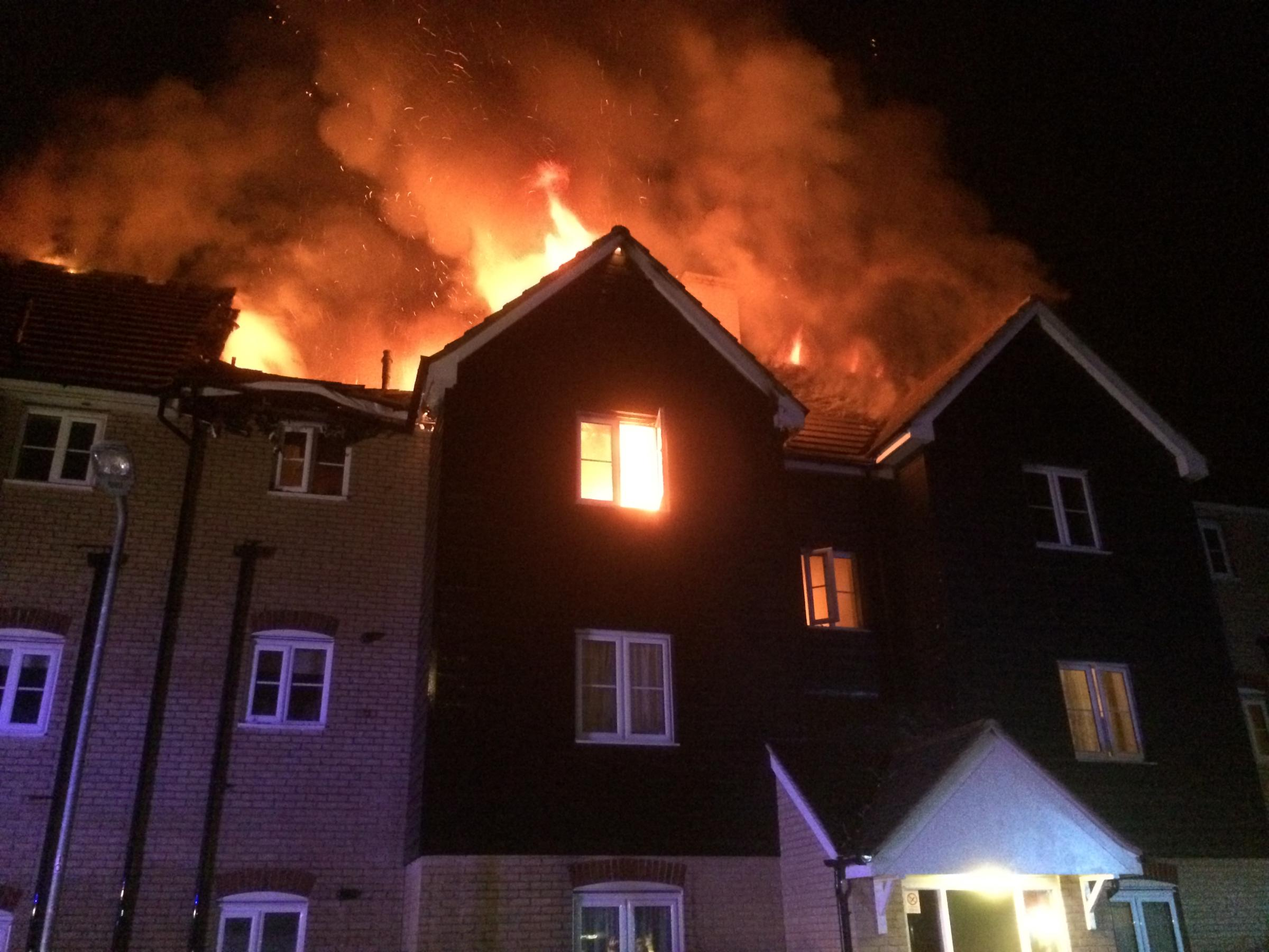 Residents left homeless as fire tears through flat [PIC courtesy of Essex Fire and Rescue Service]