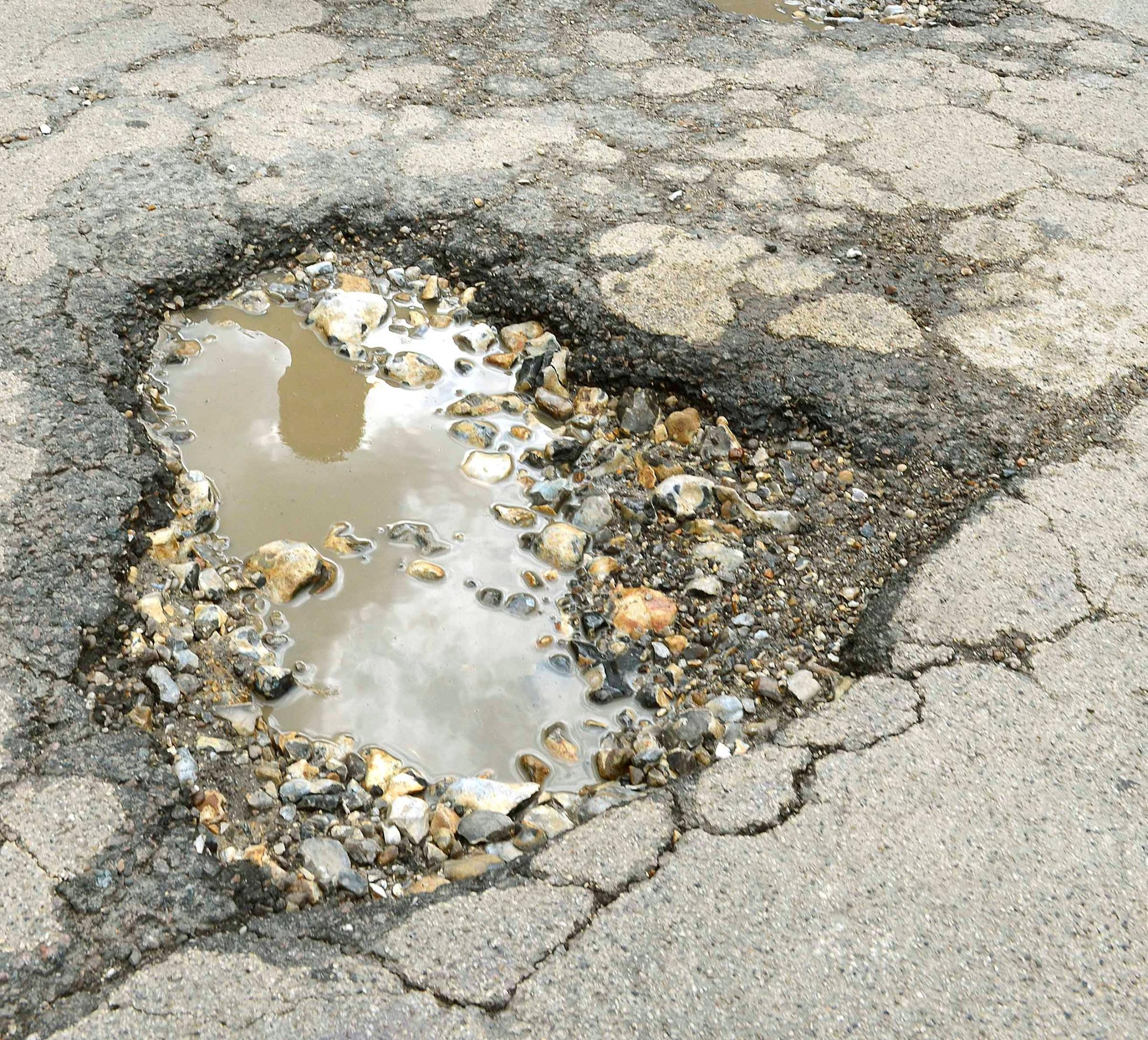 It is thought there are about 16,000 pot holes throughout Essex.