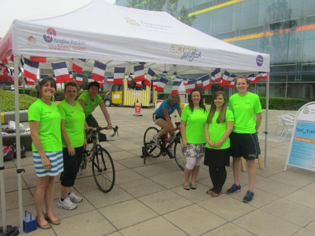 Becca Jackson, Ann Thomas, Jane Peters, Aileen Stirling, Daisy Baxendale and Rebecca Paxman at the Chelmsford Velofast