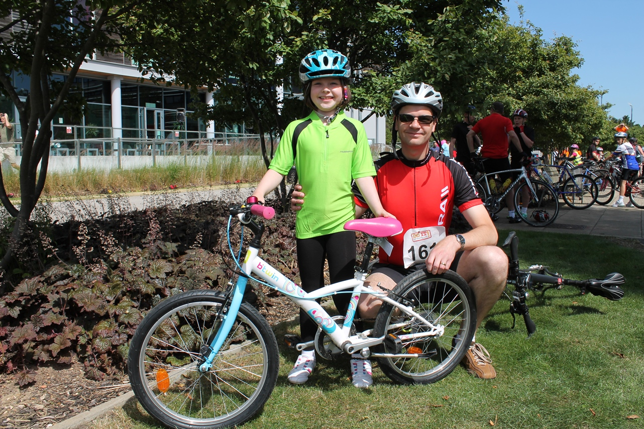 Brian and Hannah Eastall rode the 10-mile route