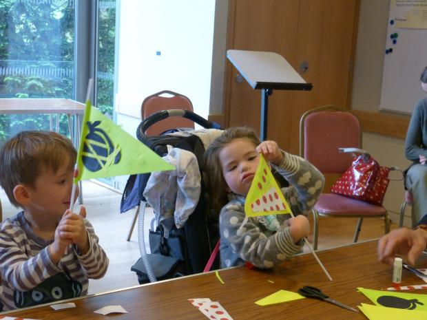 Children flag making at Chelmsford Museum