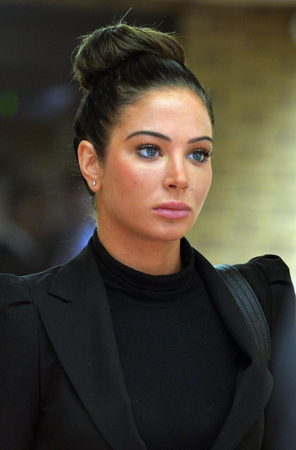 Tulisa arriving at Chelmsford Magistrates Court
