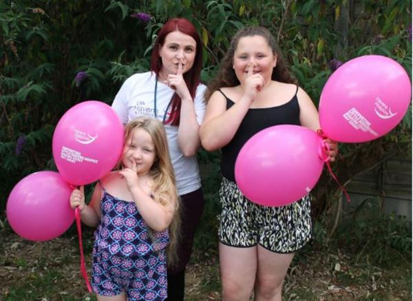 Quiet: Holly Rice, her Sister Jen and Katie Adams from Havens Hospices