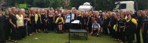 Funky Voices perform special gig for Le Tour