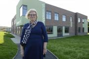 Karen Kerridge, headteacher at the Appleton School, outside the new sixth form building