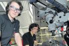 Vocational skills – technical apprentices Sean Chapman and Sam Blinkhorne working at the Procat centre