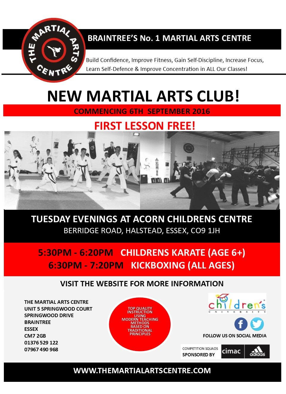 Childrens Karate / All ages Kickboxing
