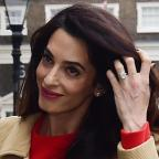 Chelmsford Weekly News: Amal Clooney stunned in a gorgeous red dress as she gave a speech in London