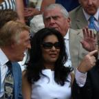 Chelmsford Weekly News: Bruce Forsyth (left), his wife Wilnelia and Jimmy Tarbuck (right) during Day Three of the 2010 Wimbledon Championships at the All England Lawn Tennis Club, Wimbledon (PA)