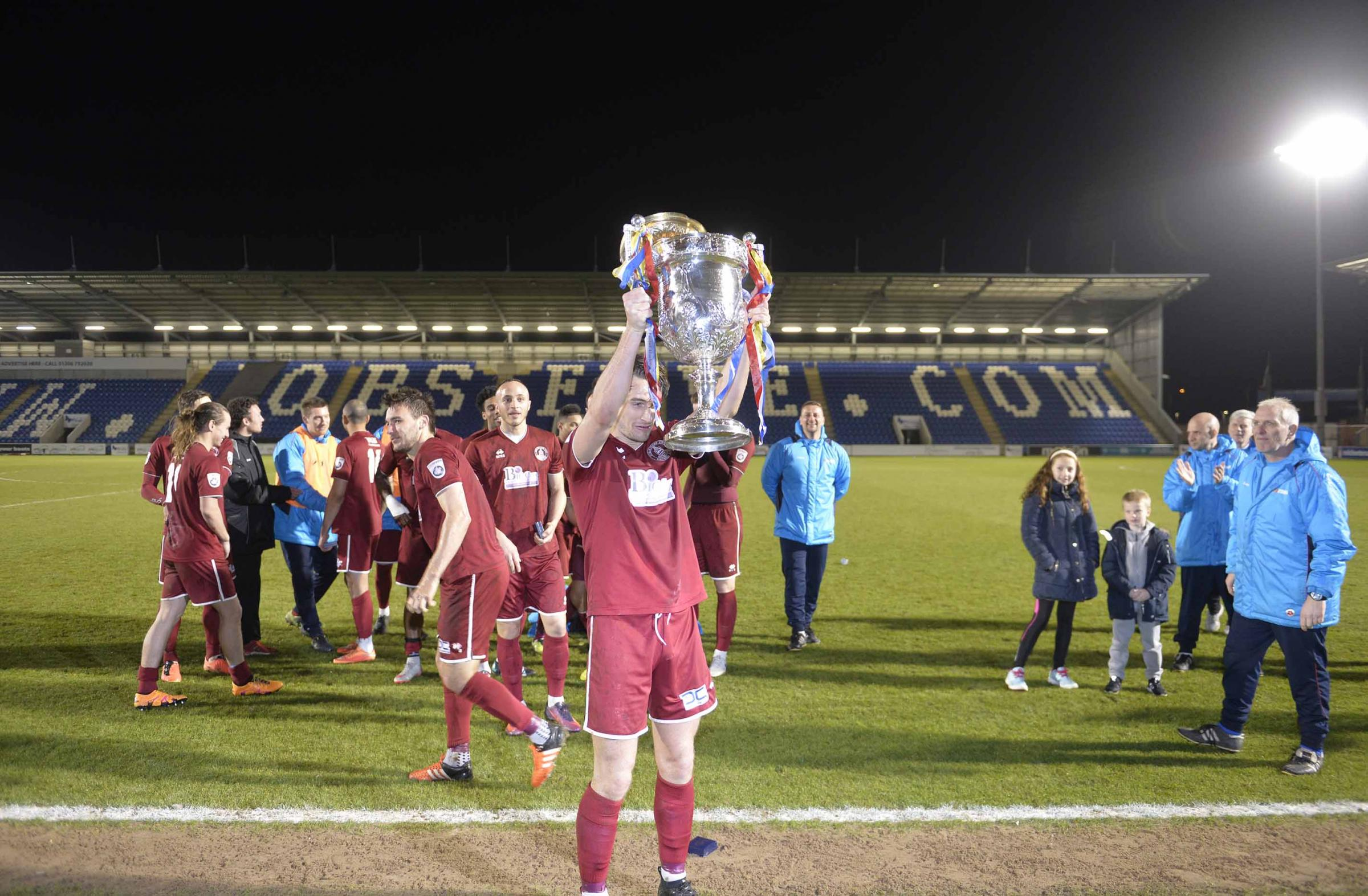 Winners - Chelmsford City lifted the cup last season