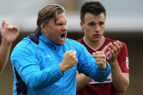 On the up - Chelmsford manager Rod Stringer