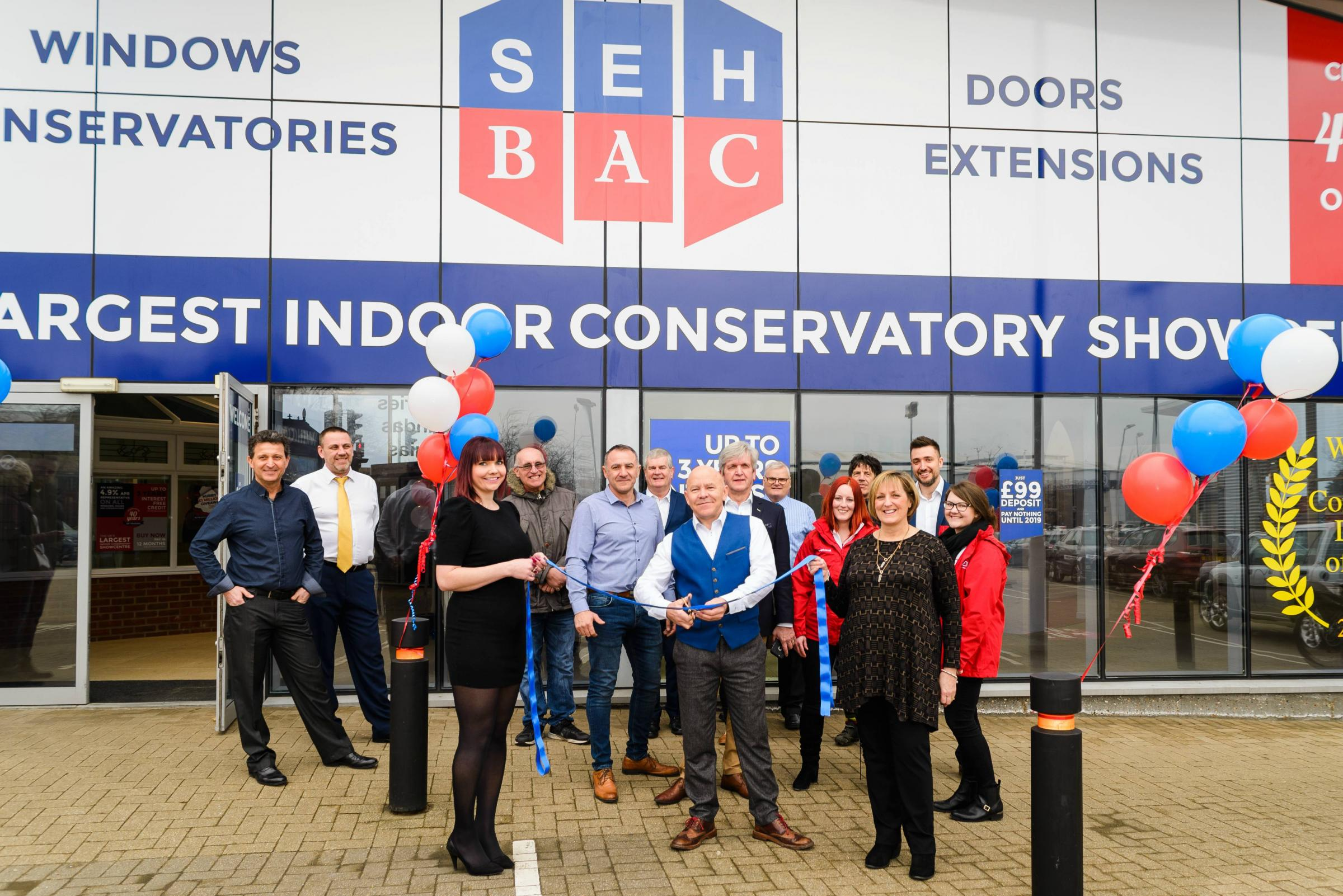 TV's Dom Littlewood helps out at opening of showroom in Chelmsford