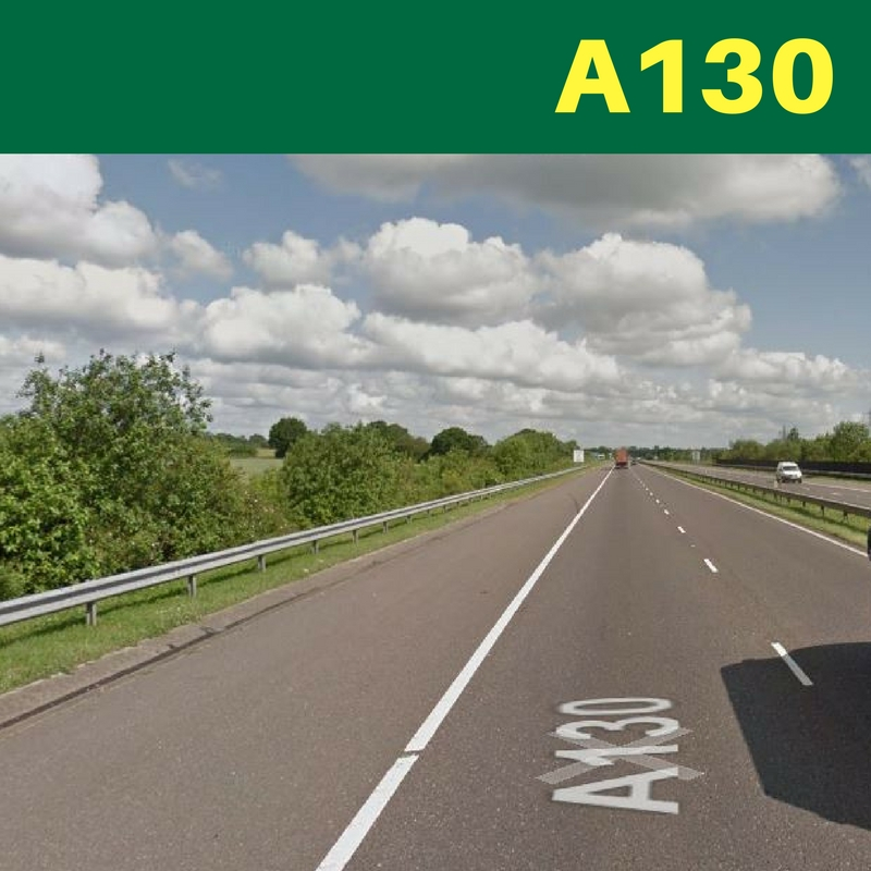 Two broken down vehicles causing delays on A130