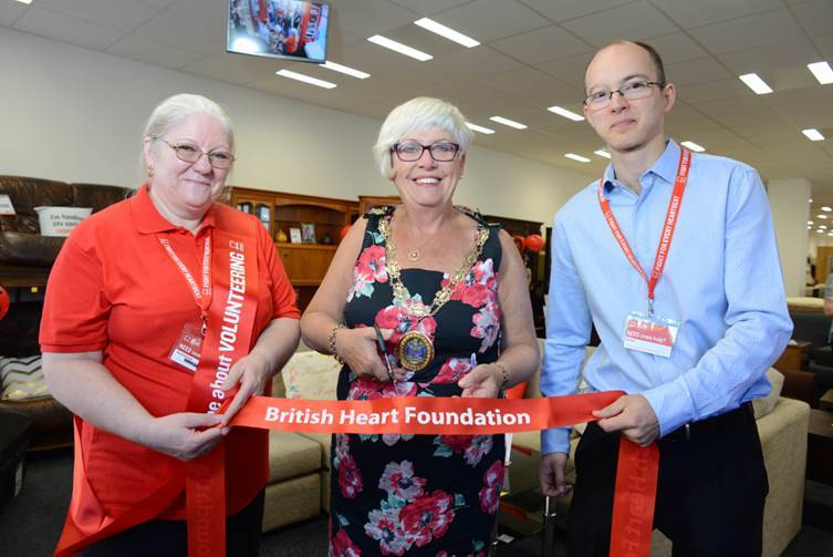 Opening - Yvonne Spence opening the new BHF shop in Chelmsford