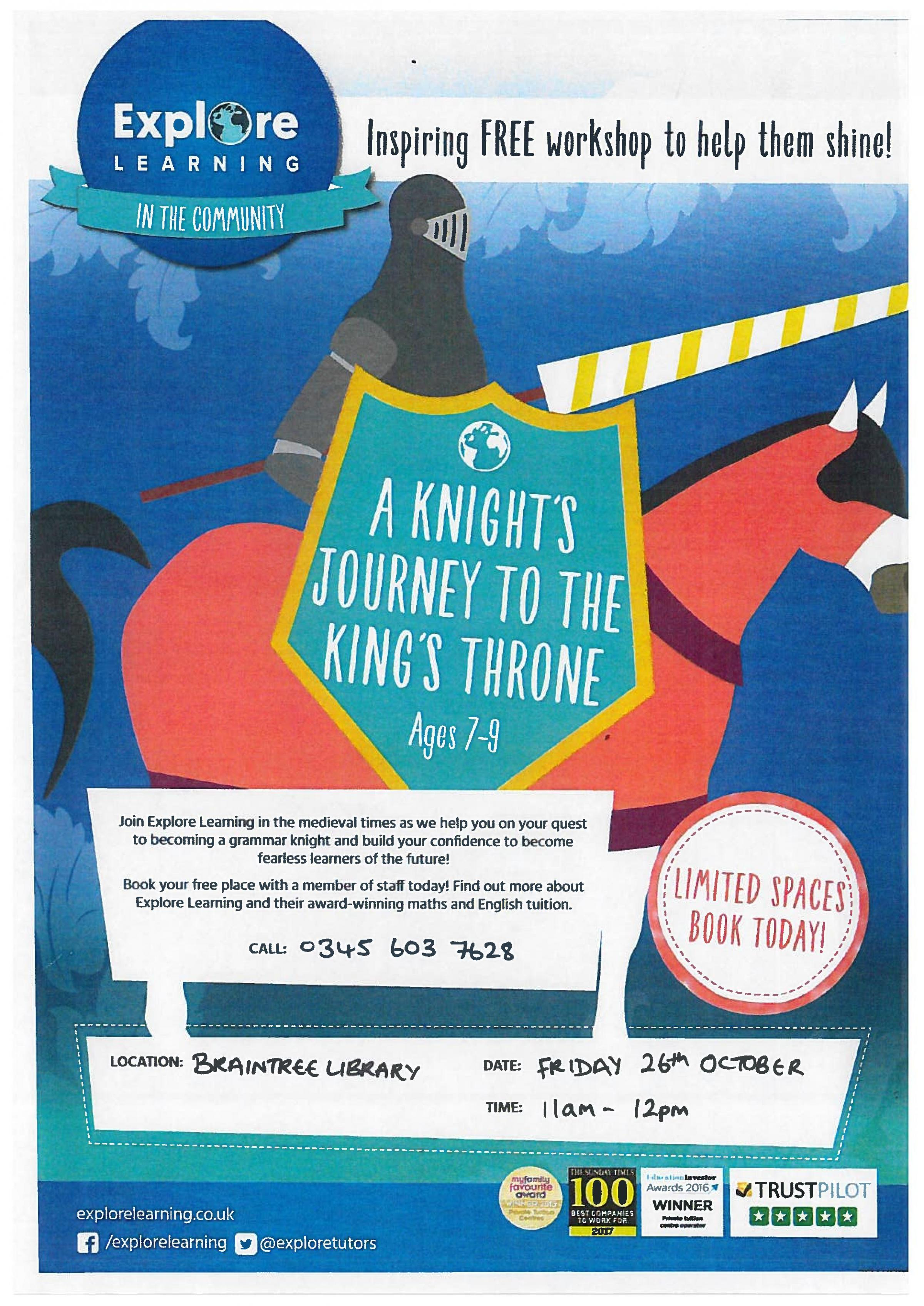 Explore Learning Workshop - A Knight's Journey to the King's Throne