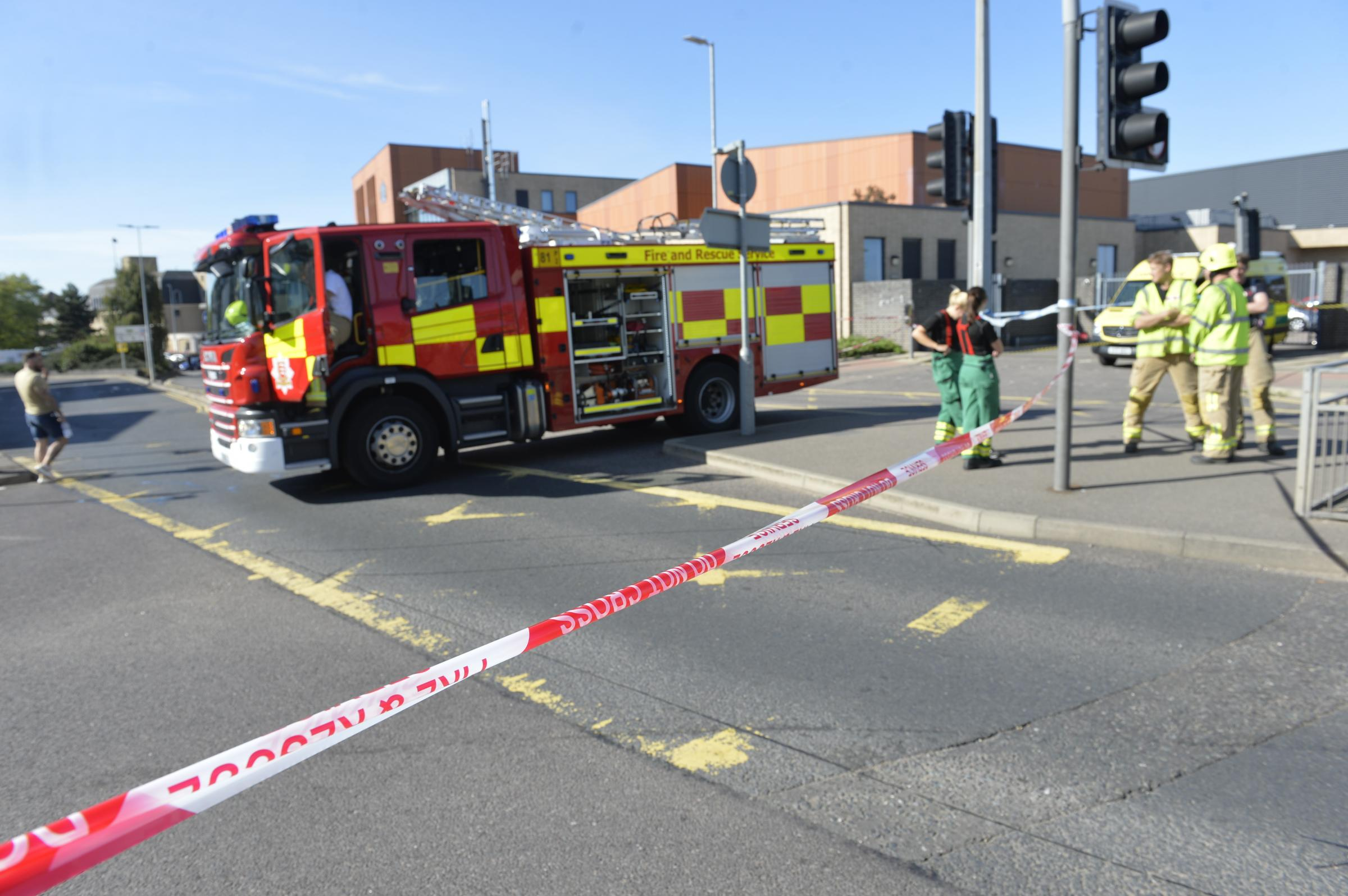 Collaboration - emergency services at what was feared to be a chemical incident in Magdalen Street, Colchester