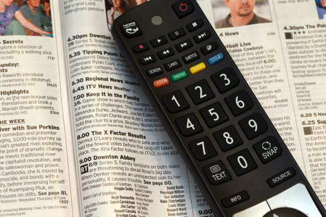 A stock image of  TV remote