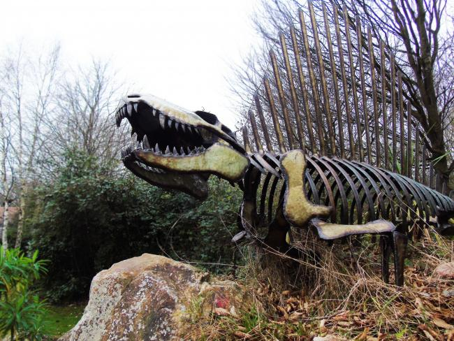 Scary - the dino trail will take the public through the sensory gardens at Little Havens including past the charity's resident dinosaur
