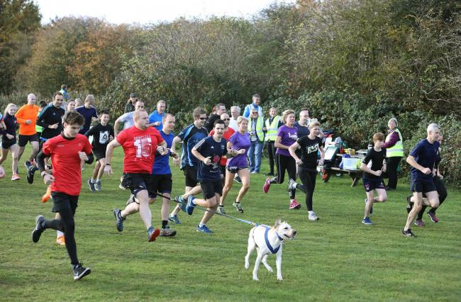 Charges - a park run at Cudmore Grove in Mersea