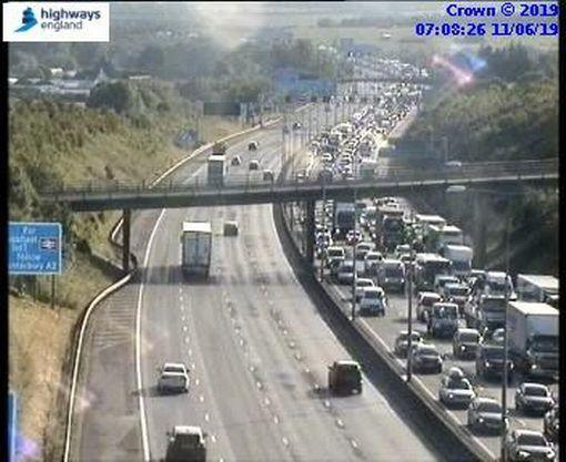 Traffic on the M25. Picture: Highways England